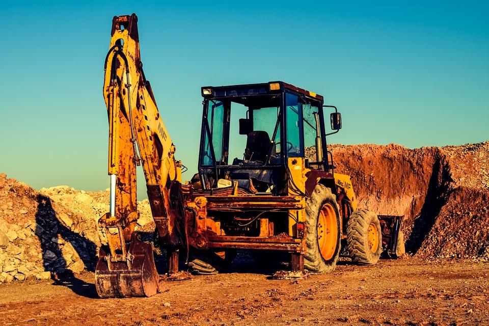 Bulldozer, Digger, Quarry, Excavator, Machinery