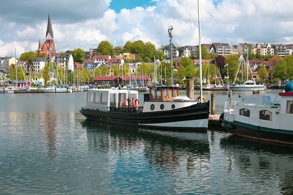 Barge, Solitüde, Ship, Towing-barge, Excavators