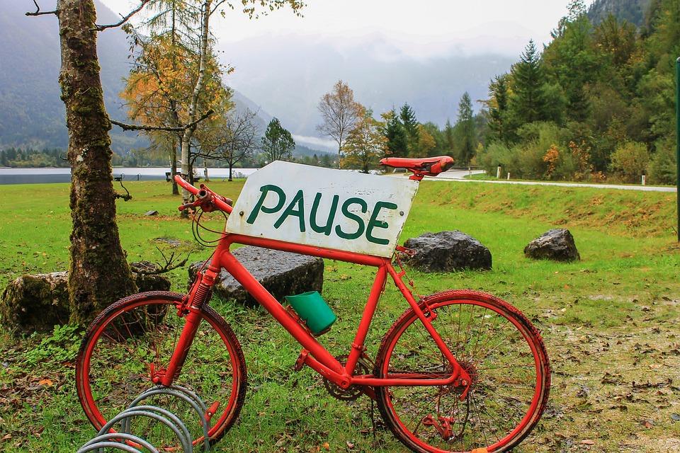 Bike, Tourism, Hallstadt, Austria, Alps, Excursion
