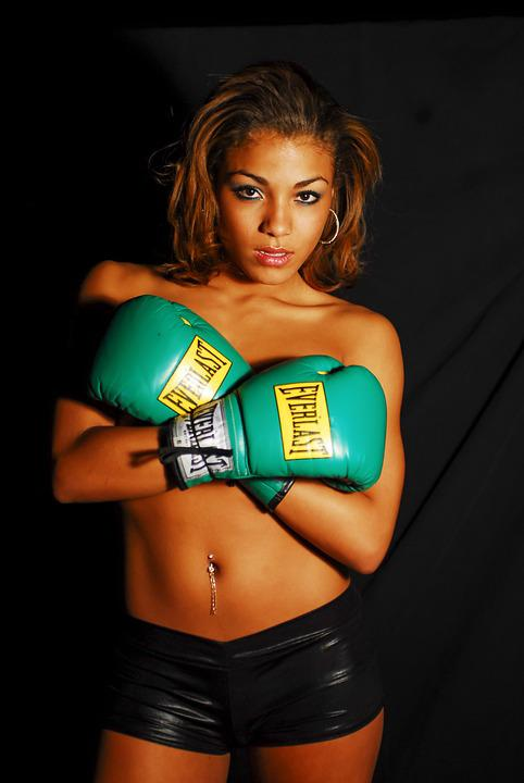 Boxing, Model, Gloves, Sports, Fit, Exercise, Pretty