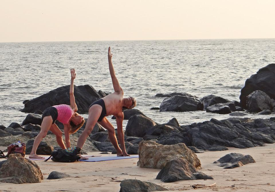 Yoga, Beach, Sea, Practice, Exercise, Lifestyle
