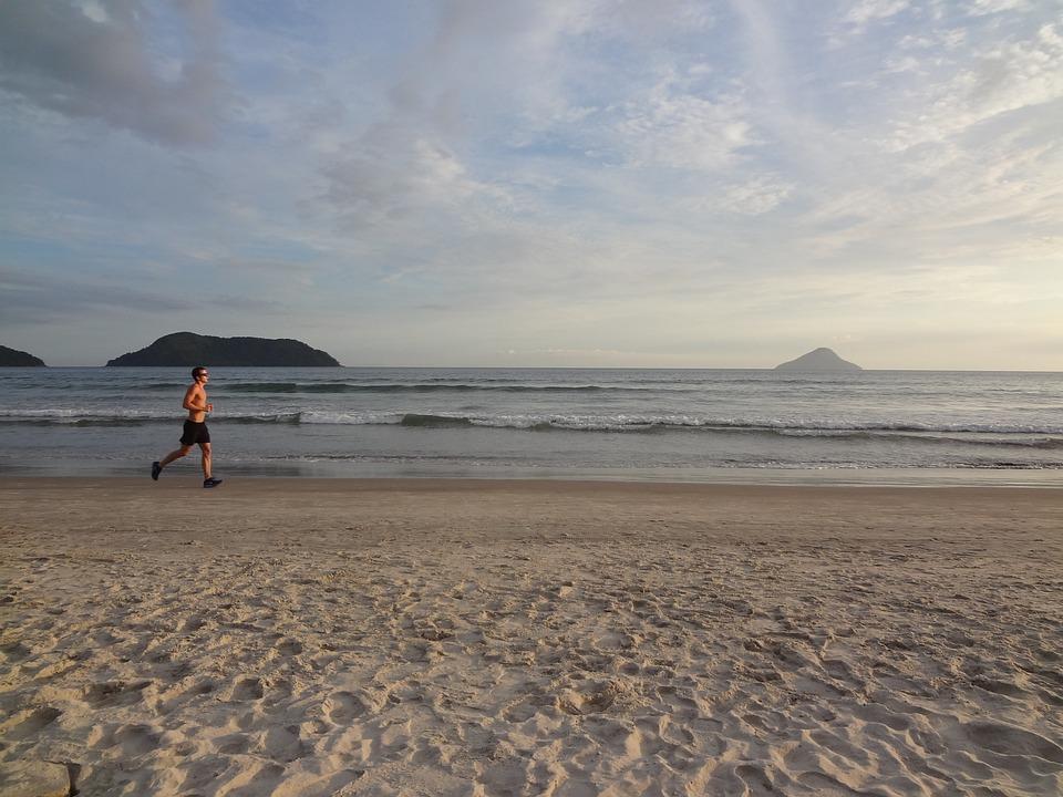 Beach, Holidays, Race, Exercise, Jogging, Summer