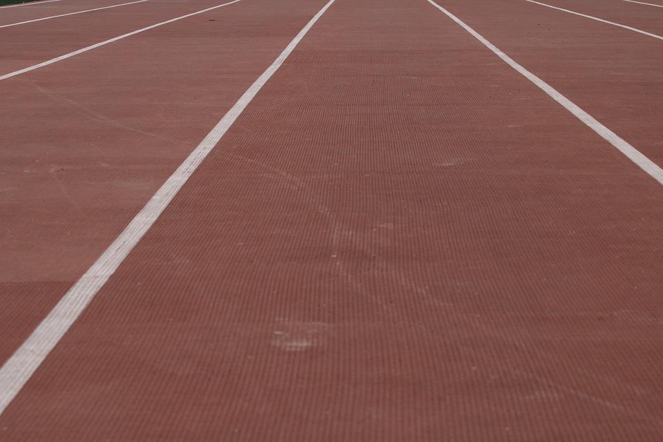 Playground, Track, Athletics, Running, Line, Exercise