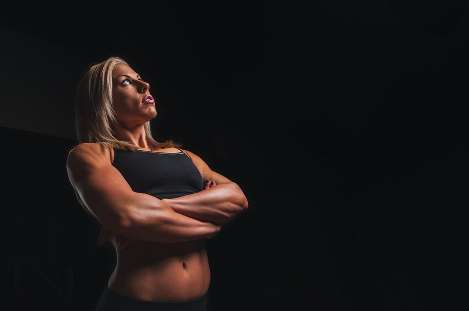 Training, Arms, Blonde, Workout, Fitness, Exercise