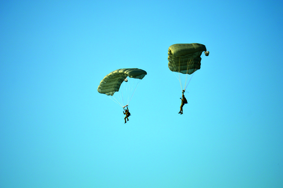 Parachute, Skydiving, Training, Exercise, Sport