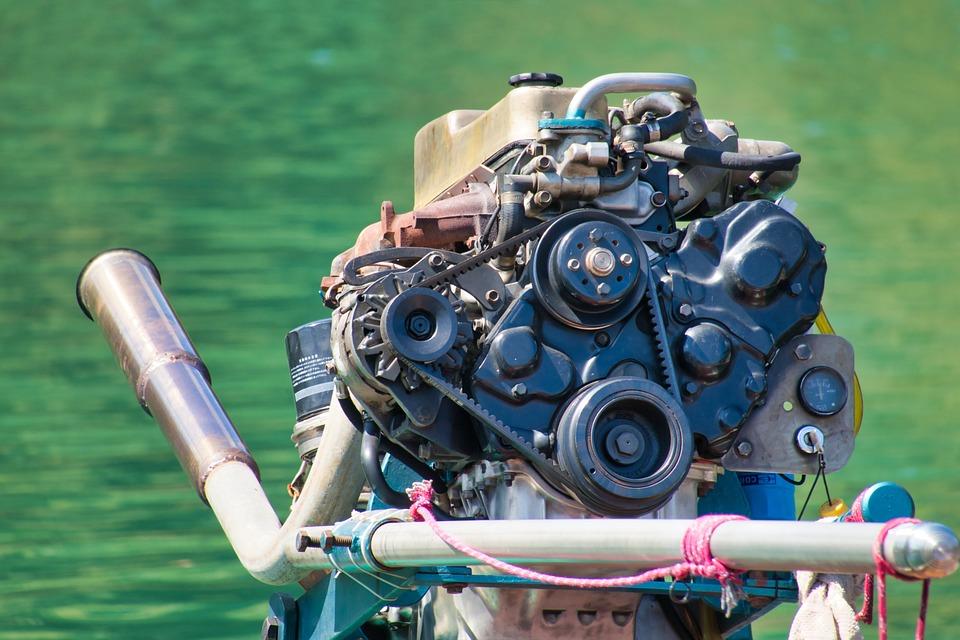 Boat Motor, Thailand, Motor, Exhaust