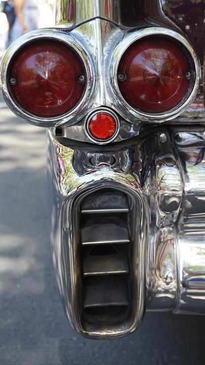 Chrome, Taillights, Exhaust, Stop Lamp, Brake Light