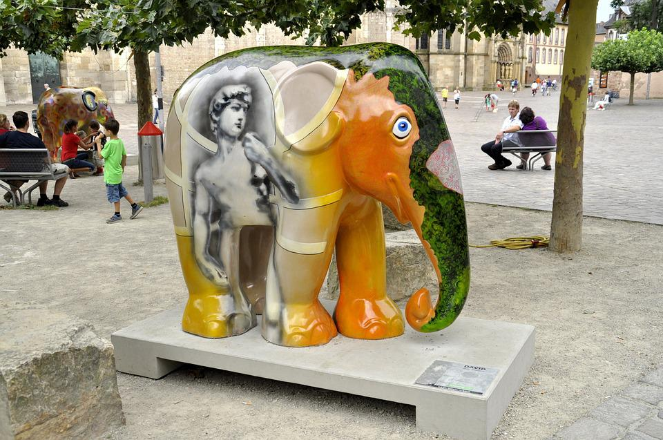 Elephant, The Statue Of, Art, Exhibition, City ​​center