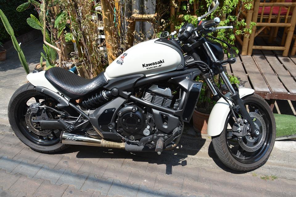 Motorbike, Kawasaki, Motorcycle, Vehicle, Exhibition