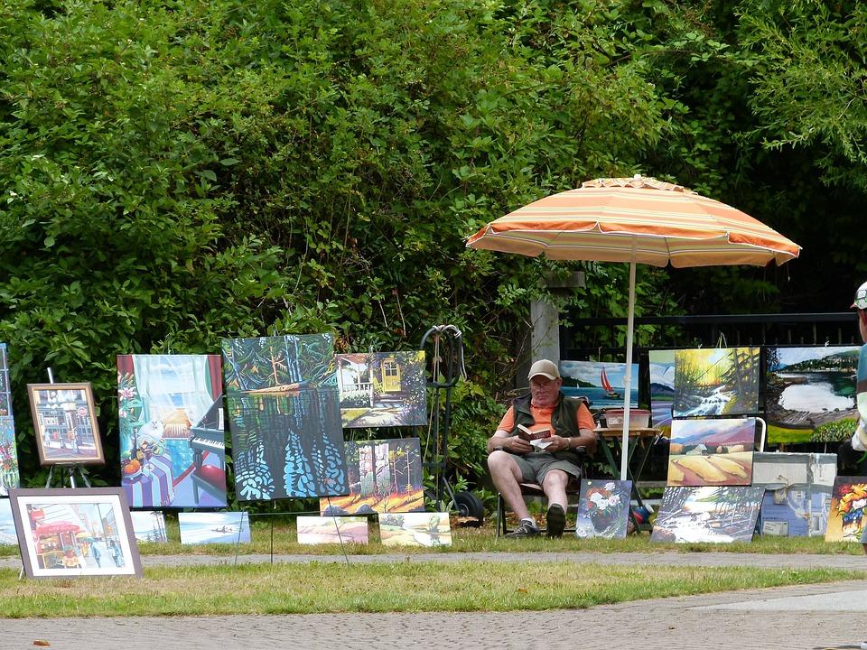 Art, Painting, Exhibition, Stanley Park, Vancouver