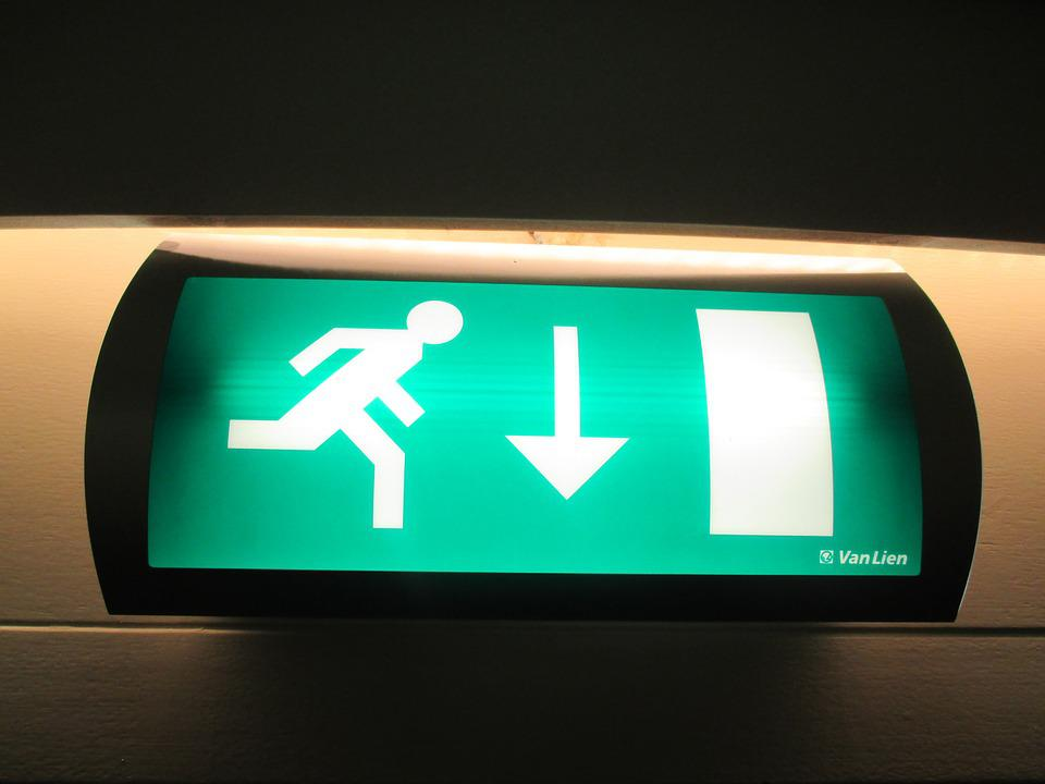 Exit, Emergency, Sign, Escape, Safety, Symbol