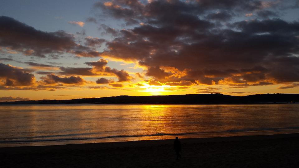 Exmouth, Sunset, Coastal, Seafront, Seashore, Devon