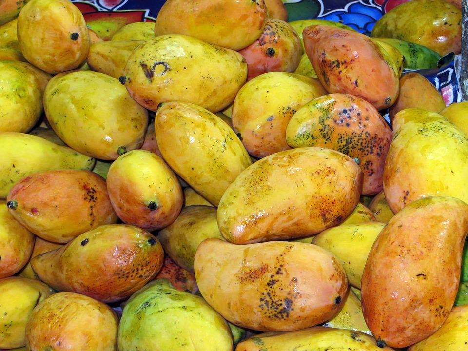 Mexico, Mango, Market, Fruit, Exotic, Yellow