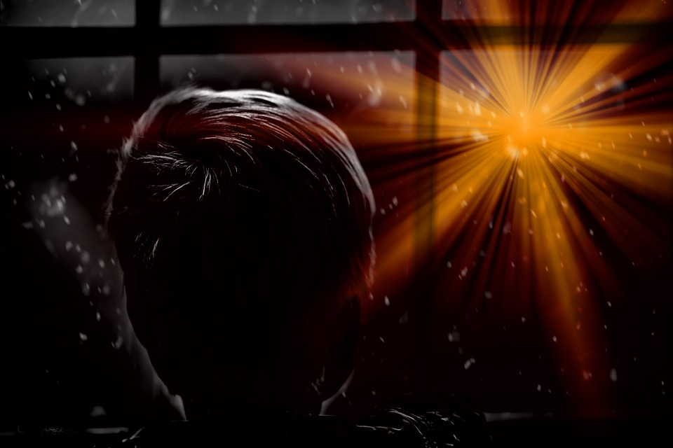 Star, Christmas, Boy, Child, Window, View, Expectation