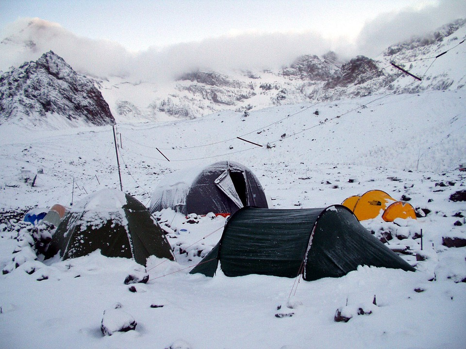 Snow, Stock, Base Camp, Aconcagua, Expedition, Andes