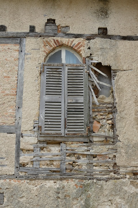 Window, Liège, Wall, Timber-framed, Expired, Neglected