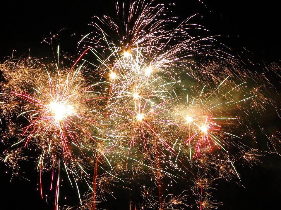 Fireworks, Graphics, Yellow, Festival, Fire, Explosion
