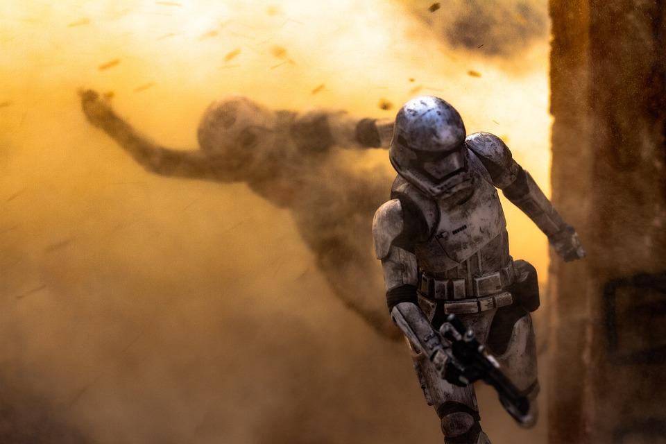 Soldier, Explosion, Armor, War, Star Wars