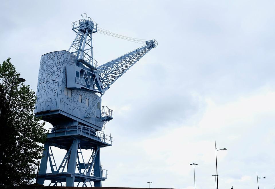 Crane, Porto, Sky, Transport, Loading, Export