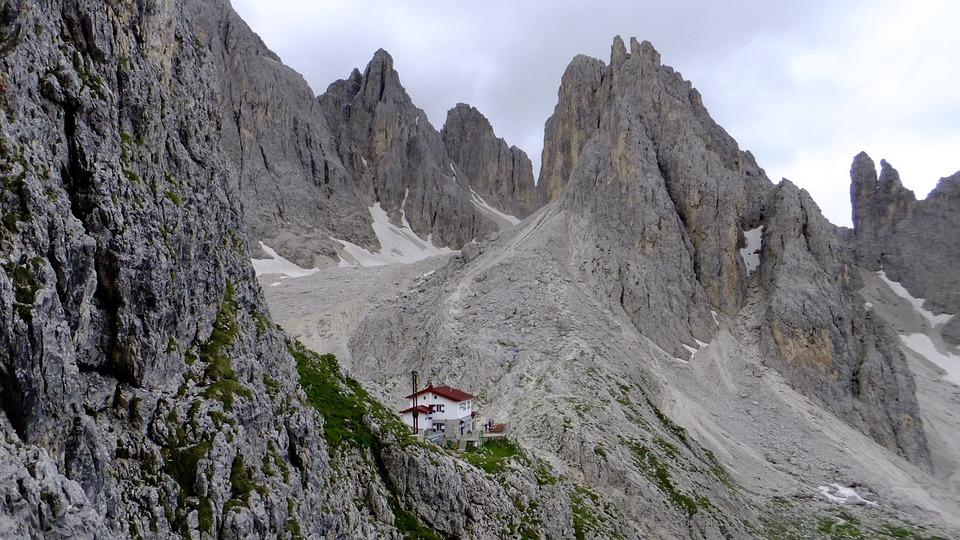 Dolomites, Mountains, Rock, Via Ferrata, Exposed
