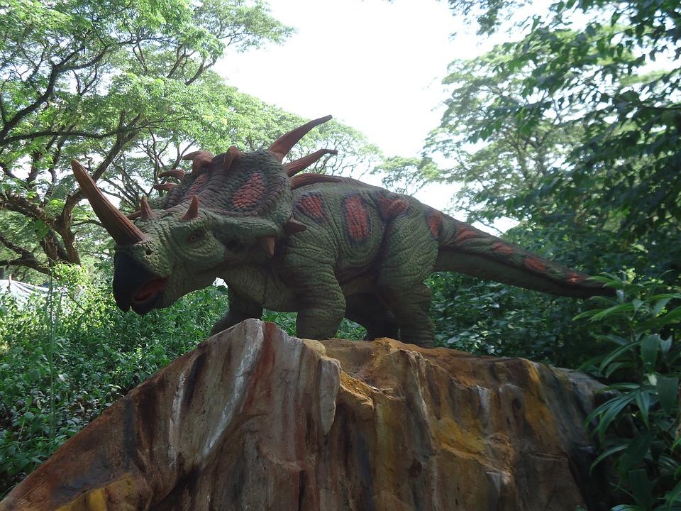 Dinosaur, Triceratops, Jurassic, Reptile, Exposition