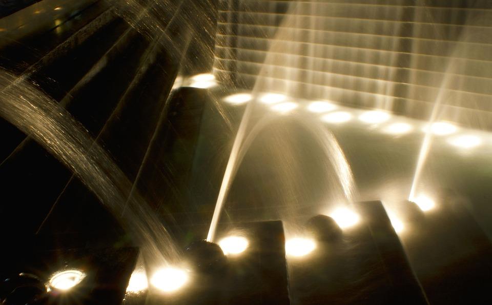 Slow Shutter Speed, Sepia, Water, Exposure, Fountain