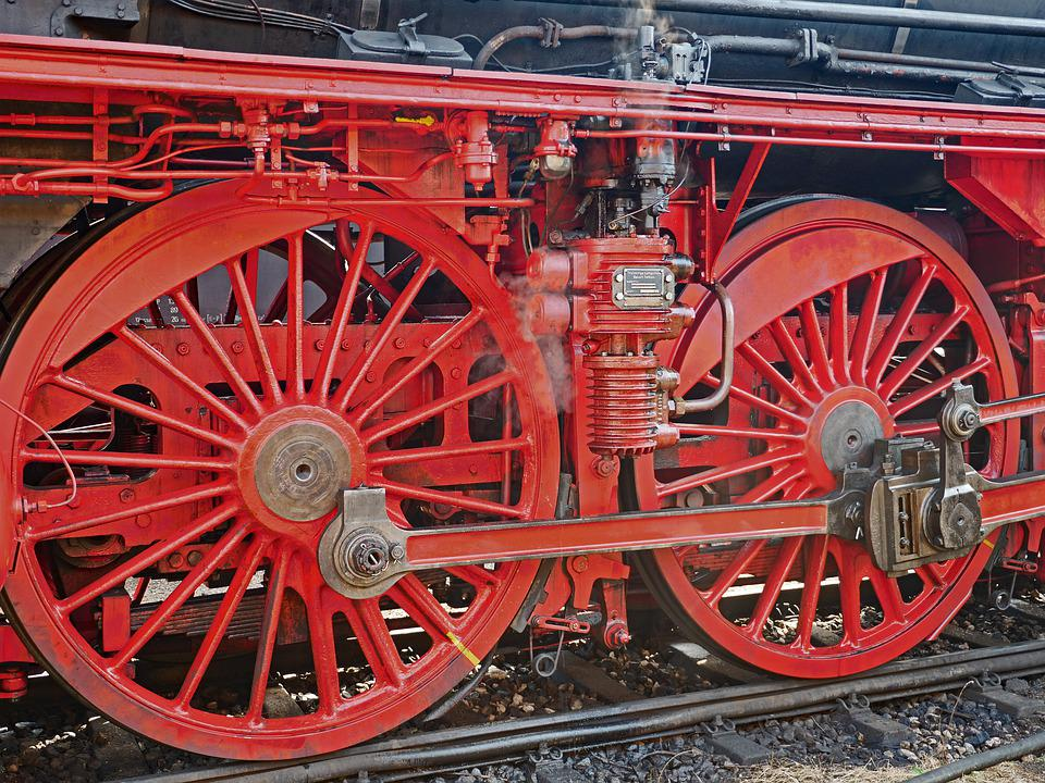Steam Locomotive, Express Train, Chassis, Blowing Axis