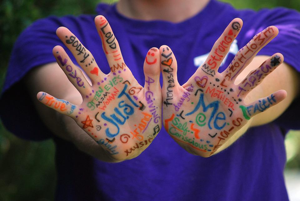 Hands, Words, Meaning, Fingers, Expression, Colorful