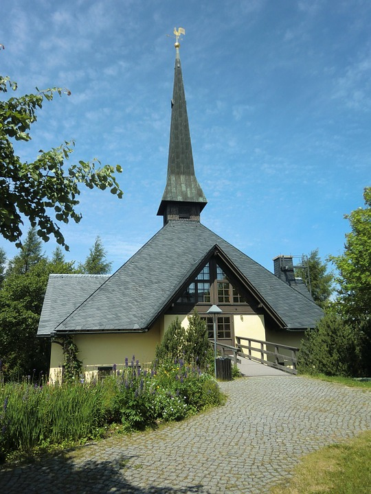 Altenberg, Church, Saxony, Germany, Building, Exterior