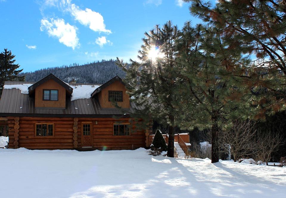 Log House, Log Cabin, Rural, Tree, Exterior, Natural