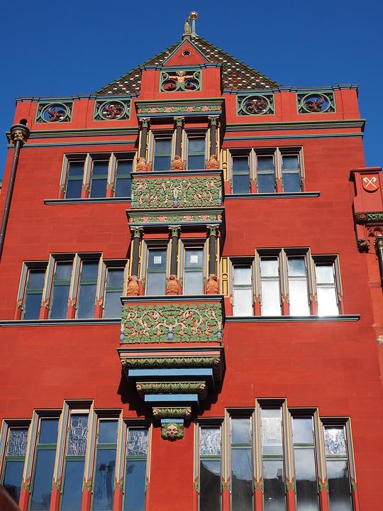Basel City Hall, Balcony, Looking Facade, Exterior