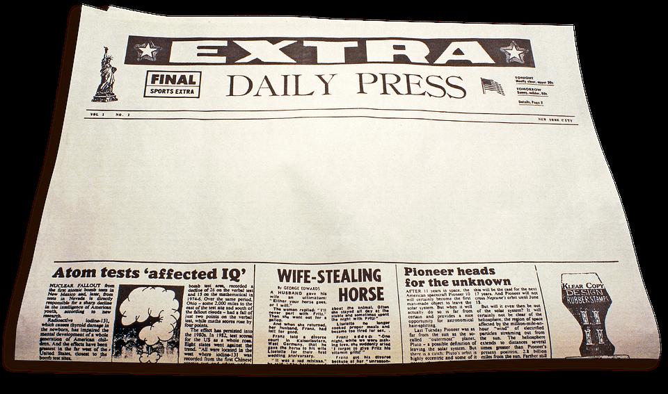 Newspaper, Extra Extra, Daily Paper, News, Culture