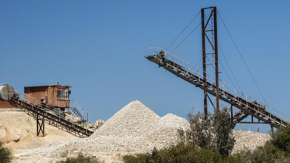 Quarry, Grit, Belt, Gravel, Extraction, Machinery