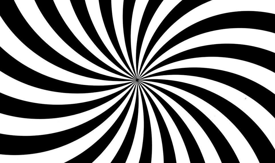 Black, White, Pattern, Confusion, Deception, Eye