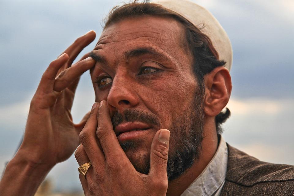 Man, Eye, Problem, Afghanistan, Person, Portrait