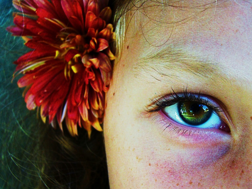 Green, Walnut, Eyes, Eye, Macro, Person, Girl, Flower
