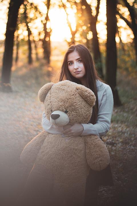 Girl, Portrait, Sunset, Light, Rip, Eye, Bear
