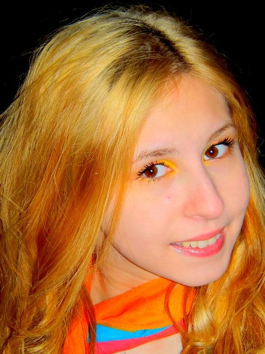 Girl, Portrait, Princess, Blond Hair, Eye, Brown, Story
