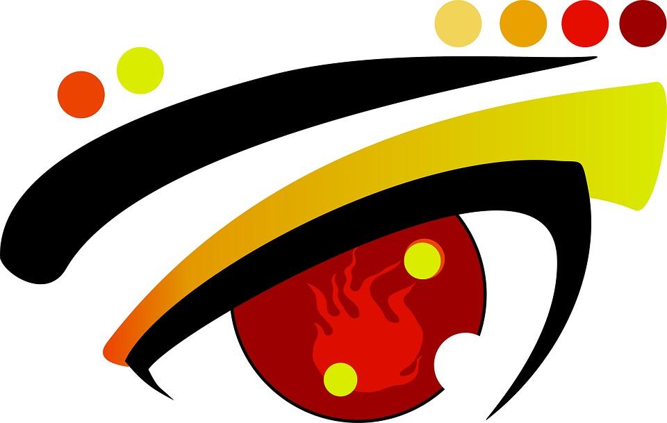 Eye, Angry, Warm, Colorful