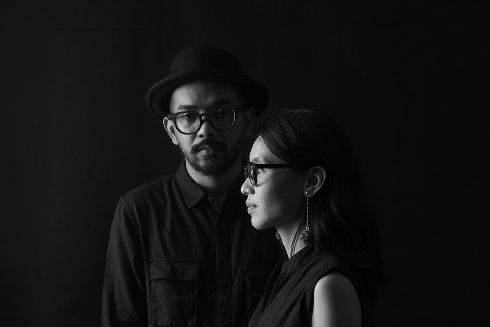 Man, Woman, Portrait, Couple, Together, Eyeglasses