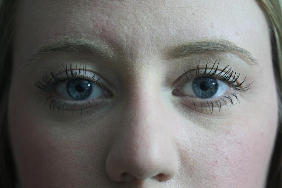 Face, Eyes, Eyelashes, Lashes, Mascara, Blue Eyes