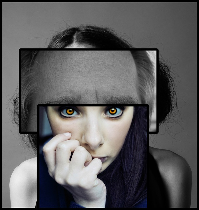 Schizophrenia, Psychology, Woman, Face, Eyes, Psyche