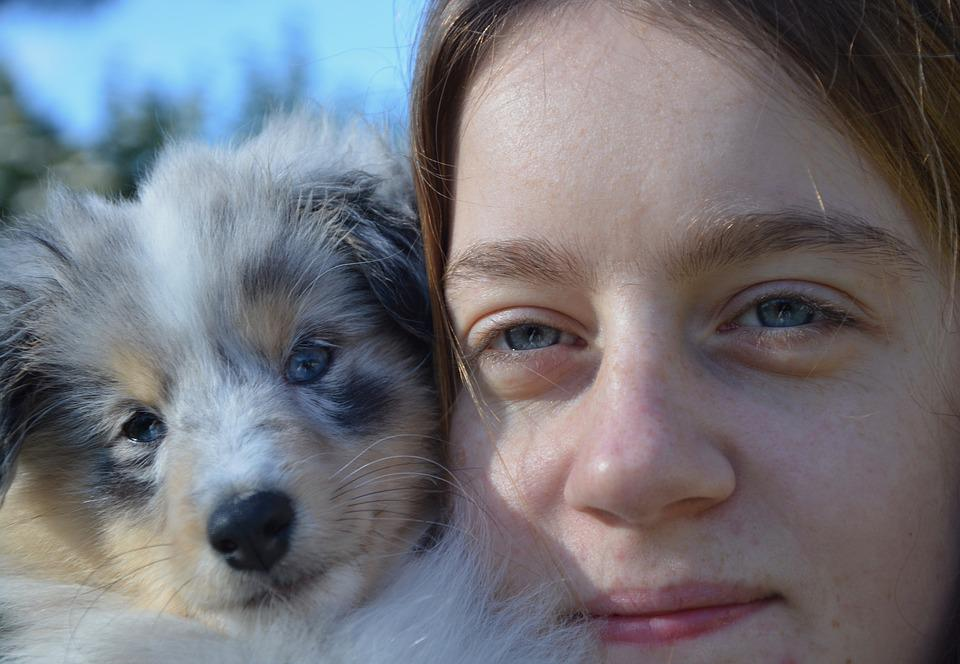 Look, Eyes, Dog, Young Woman, Girl, Portrait, Head
