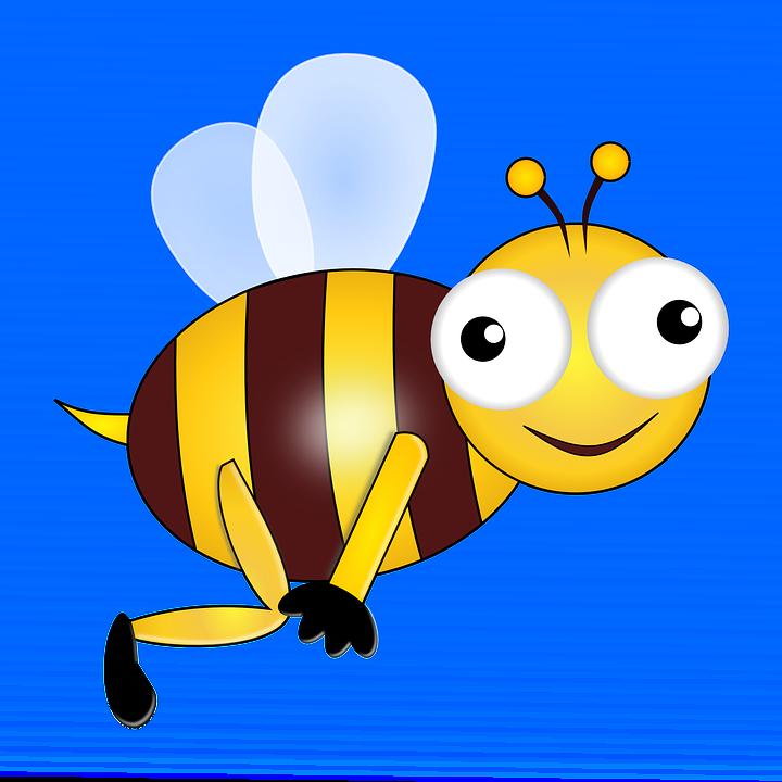 Bee, Insect, Wasp, Honeybee, Wings, Eyes, Flying, Happy
