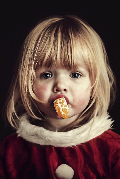 Girl, Tangerine, Orange, Portrait, Hair, Person, Eyes