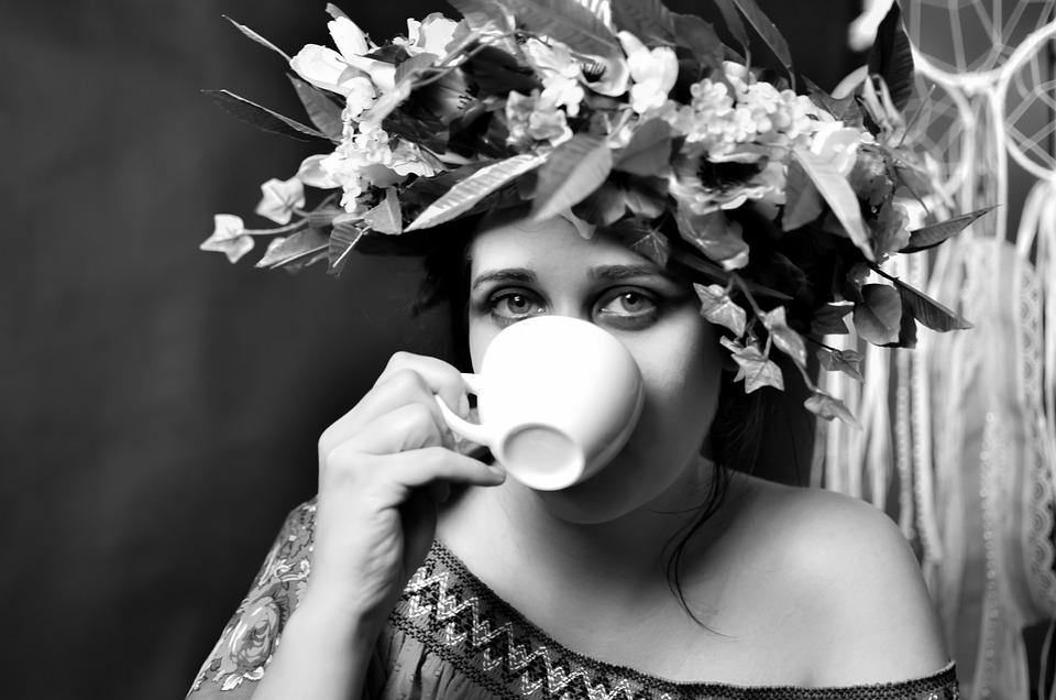 Woman, Coffee, Girl, Portrait, Photo, Appearance, Eyes