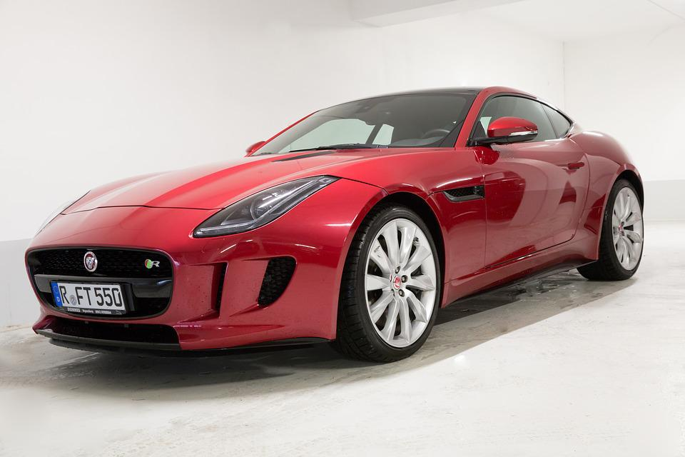 Jaguar, F Type, Coupe, Red, Hood
