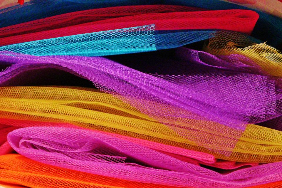 Fabric, Tulle, Colorful, Sew