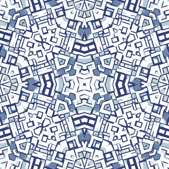 Blue, Seamless, Tile, Pattern, Texture, Design, Fabric