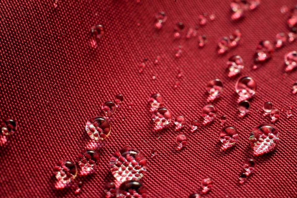 Water, Drops, Background, Pink, Fabric, Macro, Rain